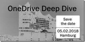 OneDrive Deep Dive 2018 in Hamburg