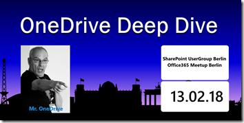 OneDrive Deep Dive 2018 in Berlin