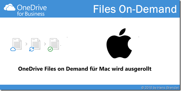 OneDrive Files on Demand; MAC Mojave