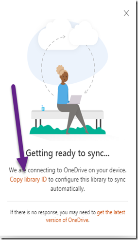 Pop Up for Copying Library ID
