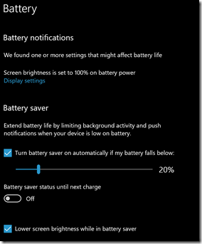Battery Saving Settings