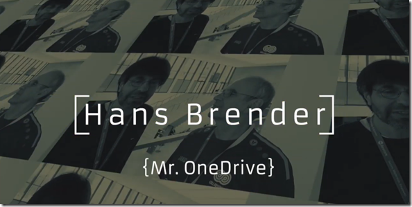 ECS 2019 - Community Talk mit Mr. OneDrive Hans Brender