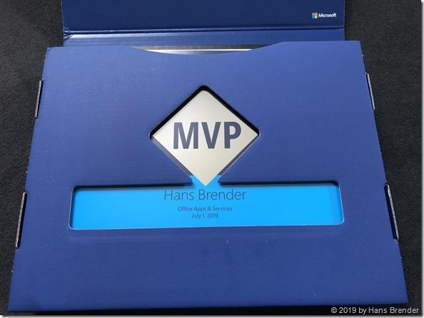 MVP Award : Das Paket hat es bis zu mir geschafft