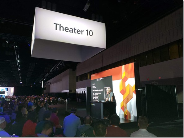 Microsoft Ignite 2019, Orlando, Theater-Session