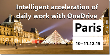 Modern Workplace Conference 2019 at Paris