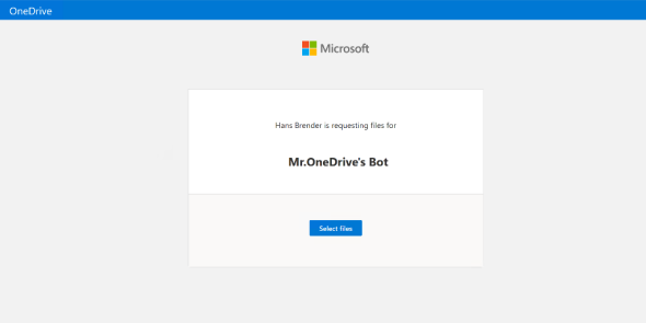 Request Files: OneDrive for Business