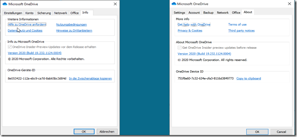 OneDrive-Geräte-ID