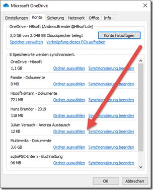 Eintrag in den Eigenschaften des OneDrive.exe