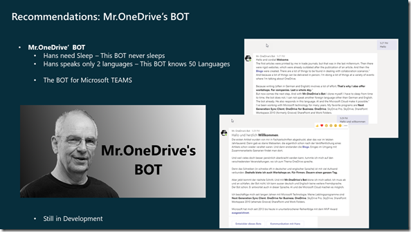What is Mr.OneDrive's BOT