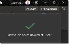 Neuer Office Dialog: bestätigung in der Applikation