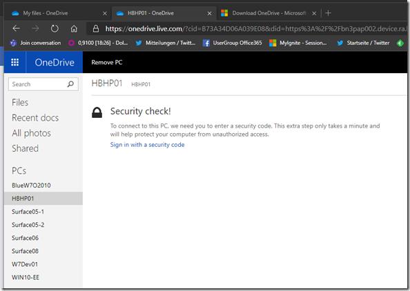 Security Check bei Dateien auf Abruf