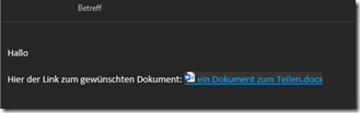 Outlook wandelt den Link in eine lesbare Version um