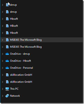 Mirrors in the File Explorer