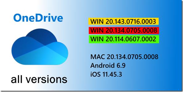 neue OneDrive Version