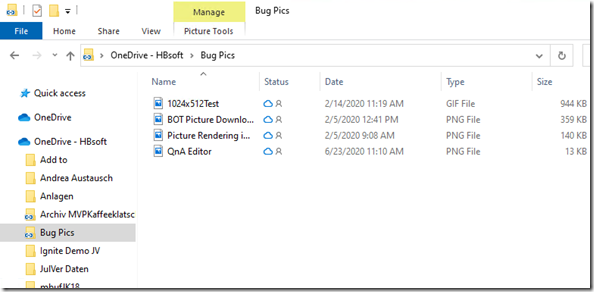 Integration and icons of added folders in Onedrive : here File -Explorer