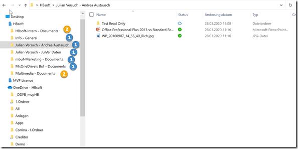 unterschiedliche Anzeige im Windows Datei Explorer