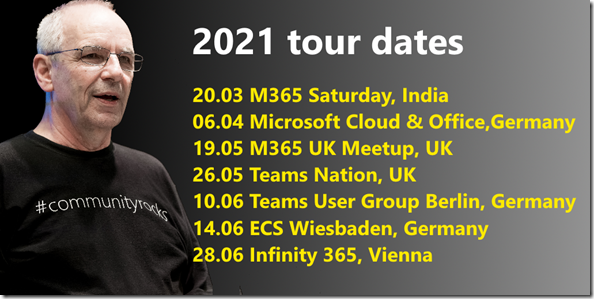 Mr.OneDrive Tour dates 2021