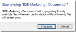 OneDrive: Synchronisation beenden: Hinweis