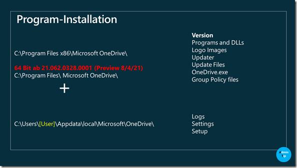 Geräte-Installation OneDrive.exe