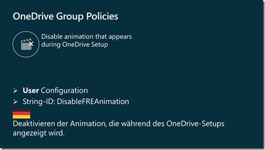 Gruppenrichtlinie: Deaktivieren der Animation, die während des OneDrive-Setups angezeigt wird