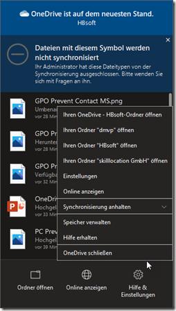 Benutzer kann kein Feedback direkt an Microsoft senden