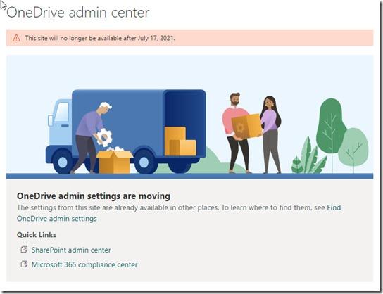 OneDrive Admin Center