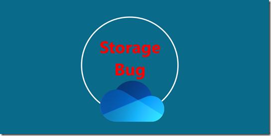 OneDrive Storage Bug