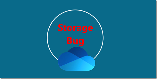 Storage Bug im Admin Center